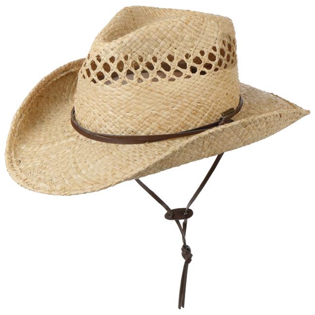 be8a891258a7d Sombrero Cowboy Rafia Larimore by Stetson - Sombreros - sombreroshop.es