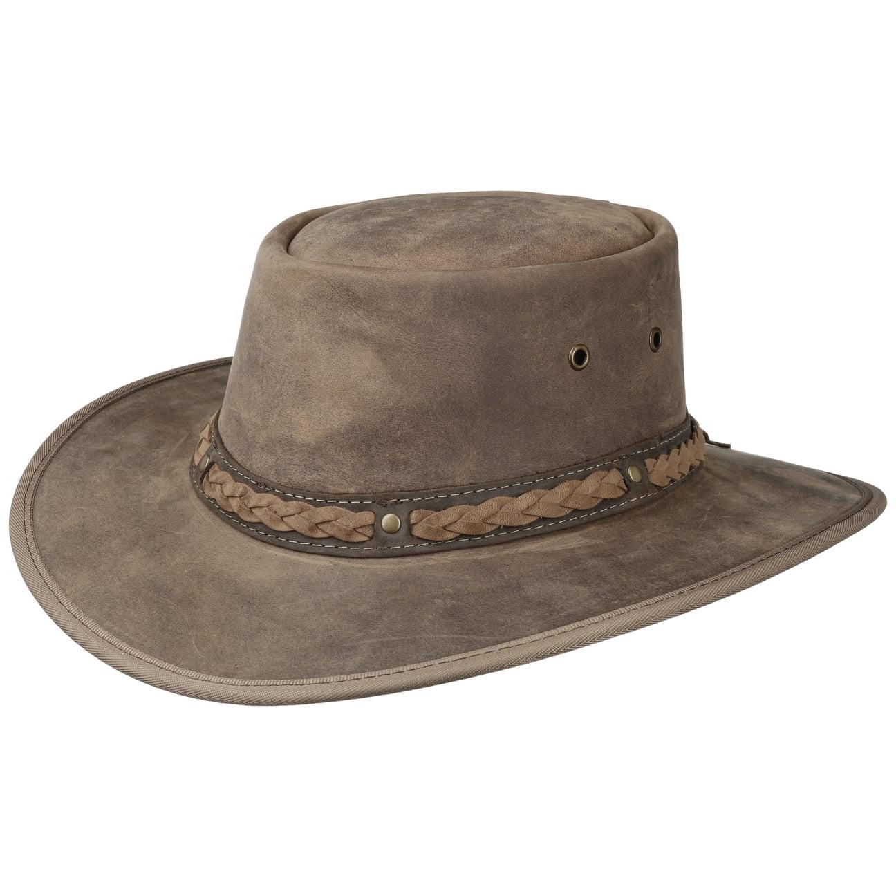 Sombrero de Piel Squashy Bronco by BARMAH  trenzado