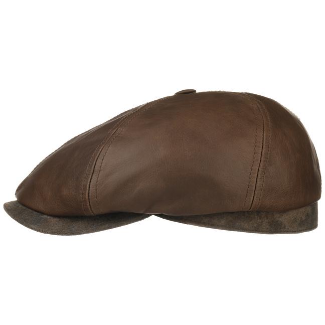Gorra de Piel Brooklin by Stetson - Gorras - sombreroshop.es 10d541cebcd
