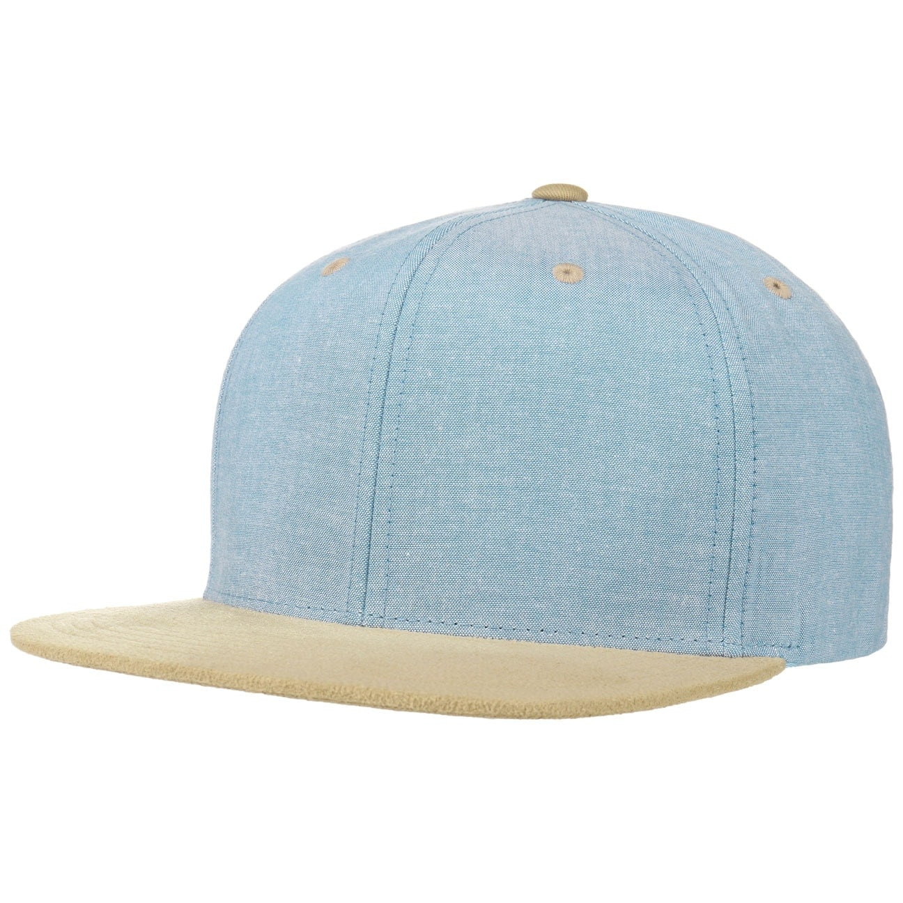 Chambray Suede Snapback Cap