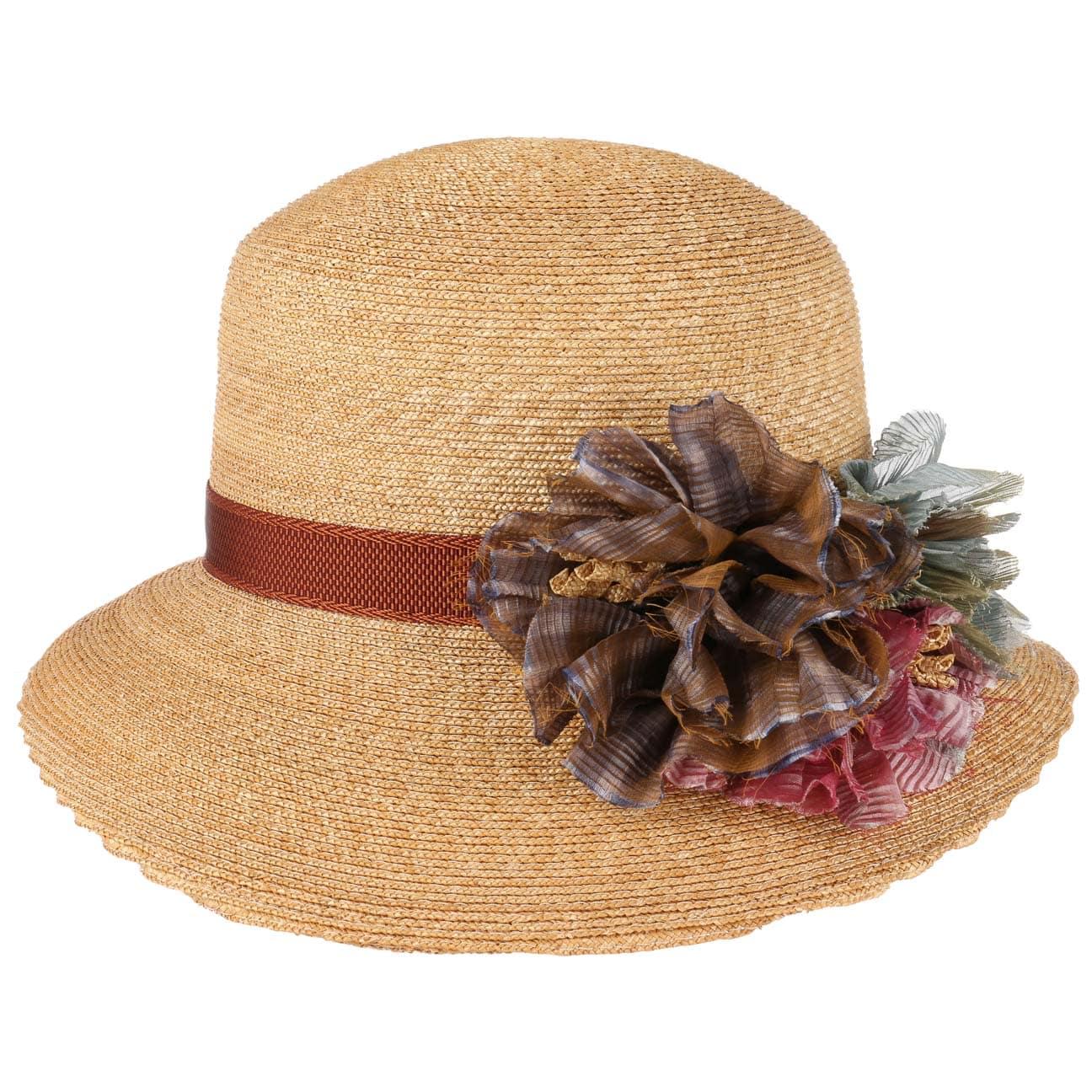 Sombrero de Paja Asym Flower by GREVI  sombrero de verano