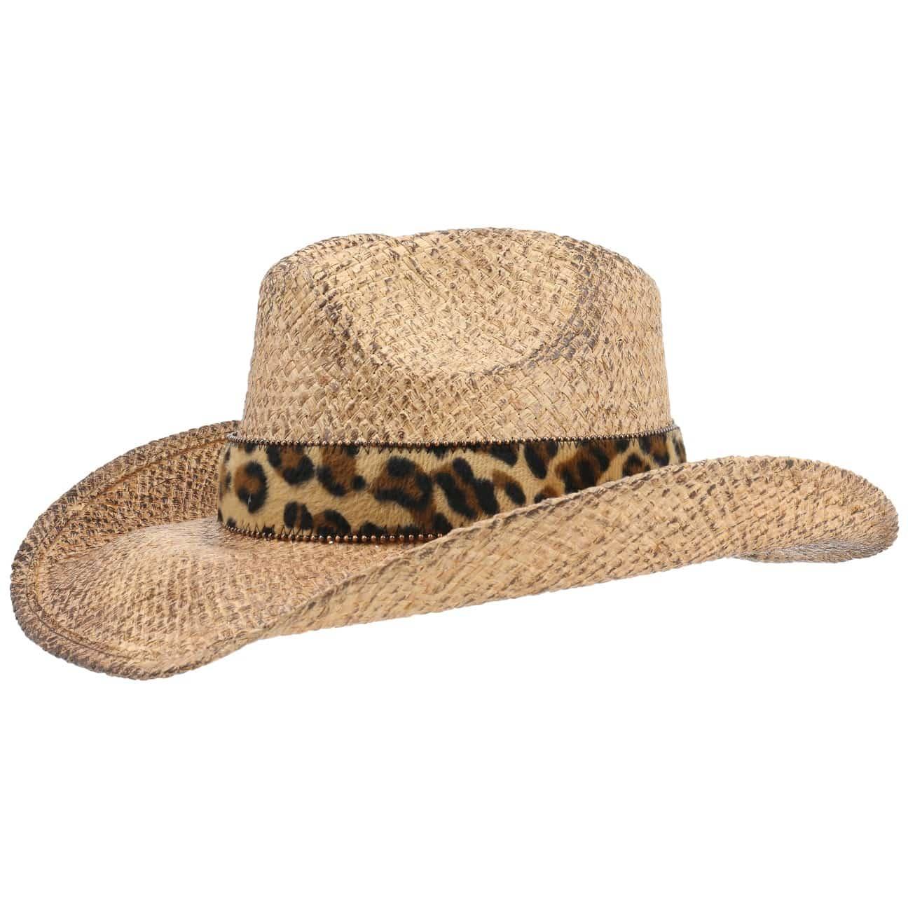 Sombrero Paja Leoprint Western by Conner  sombrero de verano