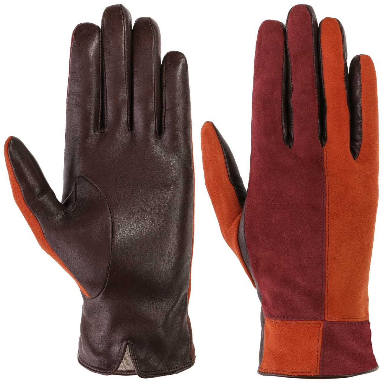 Guantes de Mujer Leather Mix by Caridei  guantes con dedos