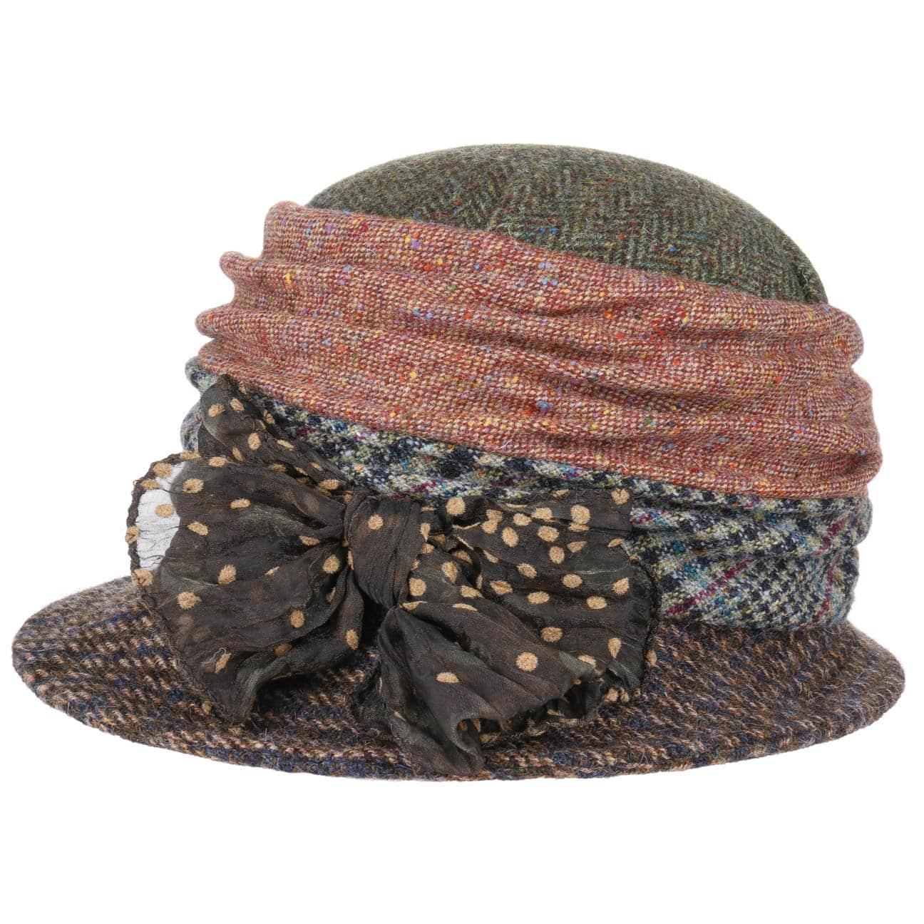 Sombrero Asim?trico Patchwork by GREVI  sombrero de lana