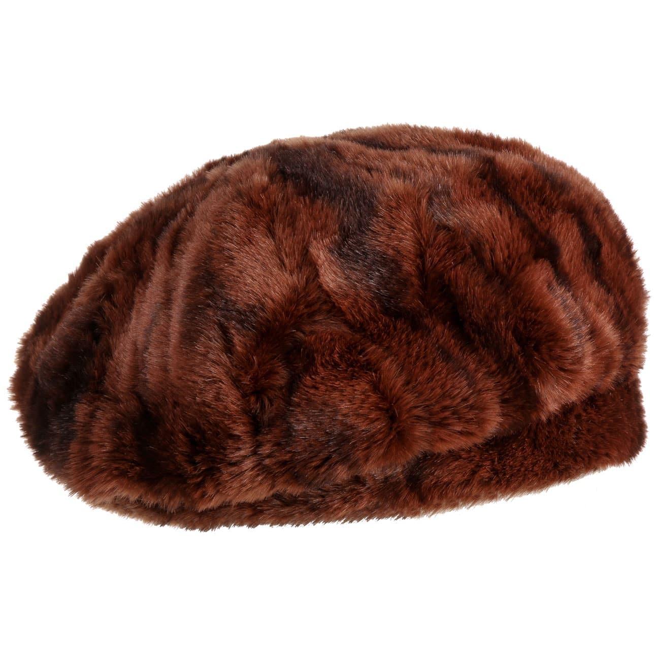 Boina Cognac Fake Fur by Gebeana