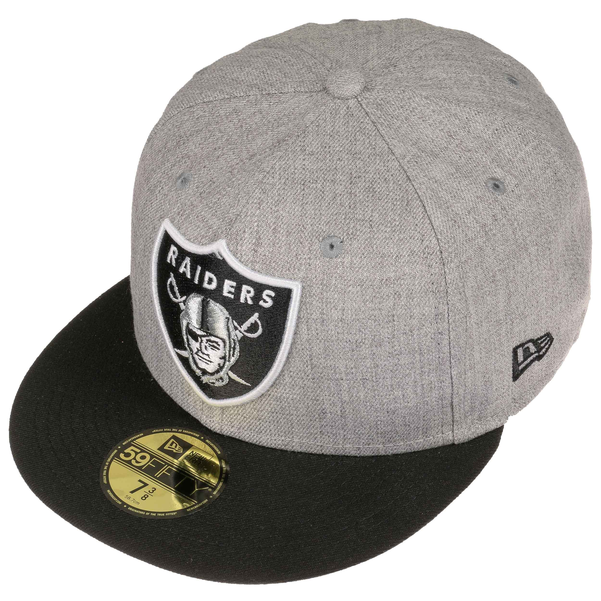0cfd7a0c3f47c Gorra 59Fifty Heather Raiders by New Era - Gorras - sombreroshop.es