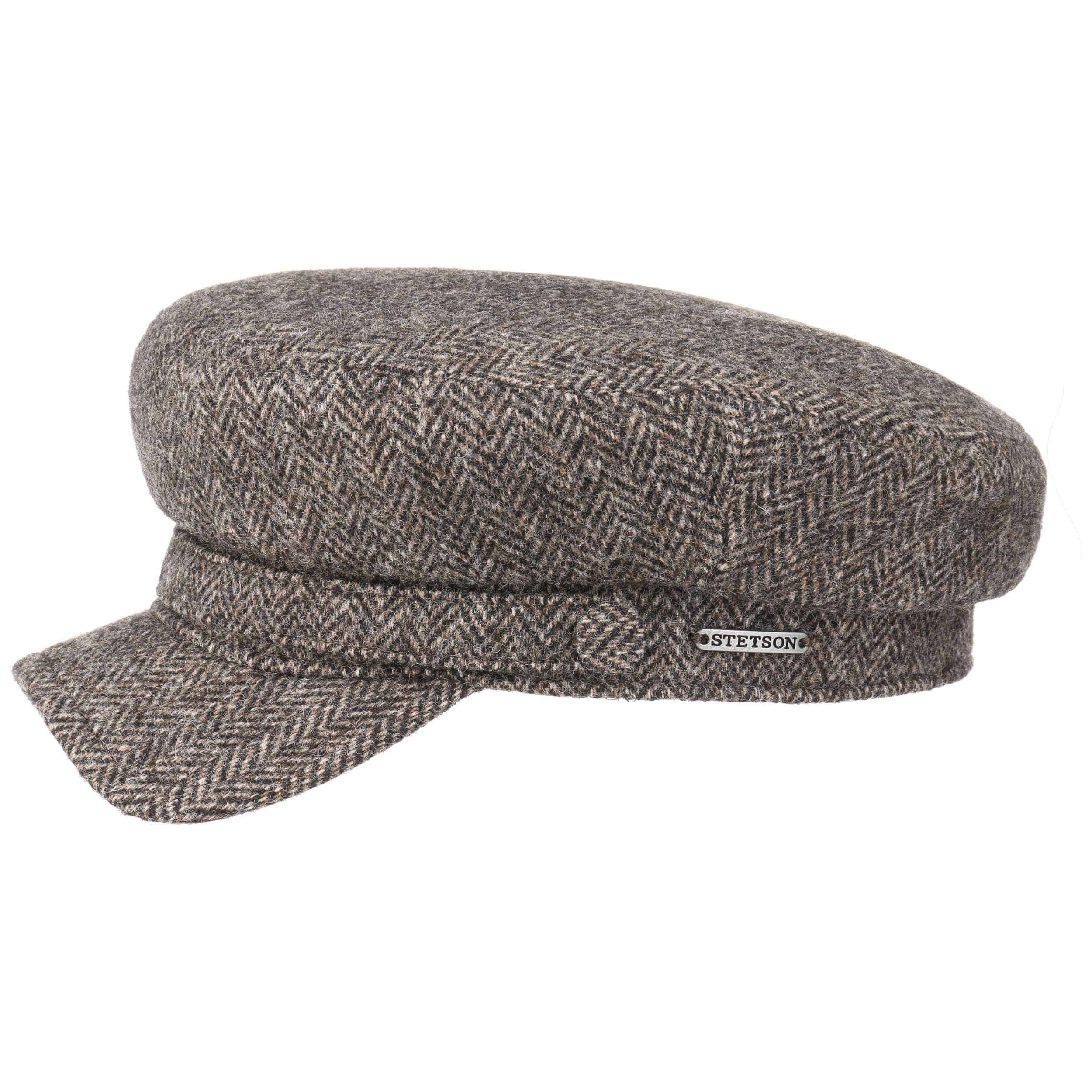 Gorra Marinera Herringbone Wool by Stetson - Gorras - sombreroshop.es 628aa5ffc6a