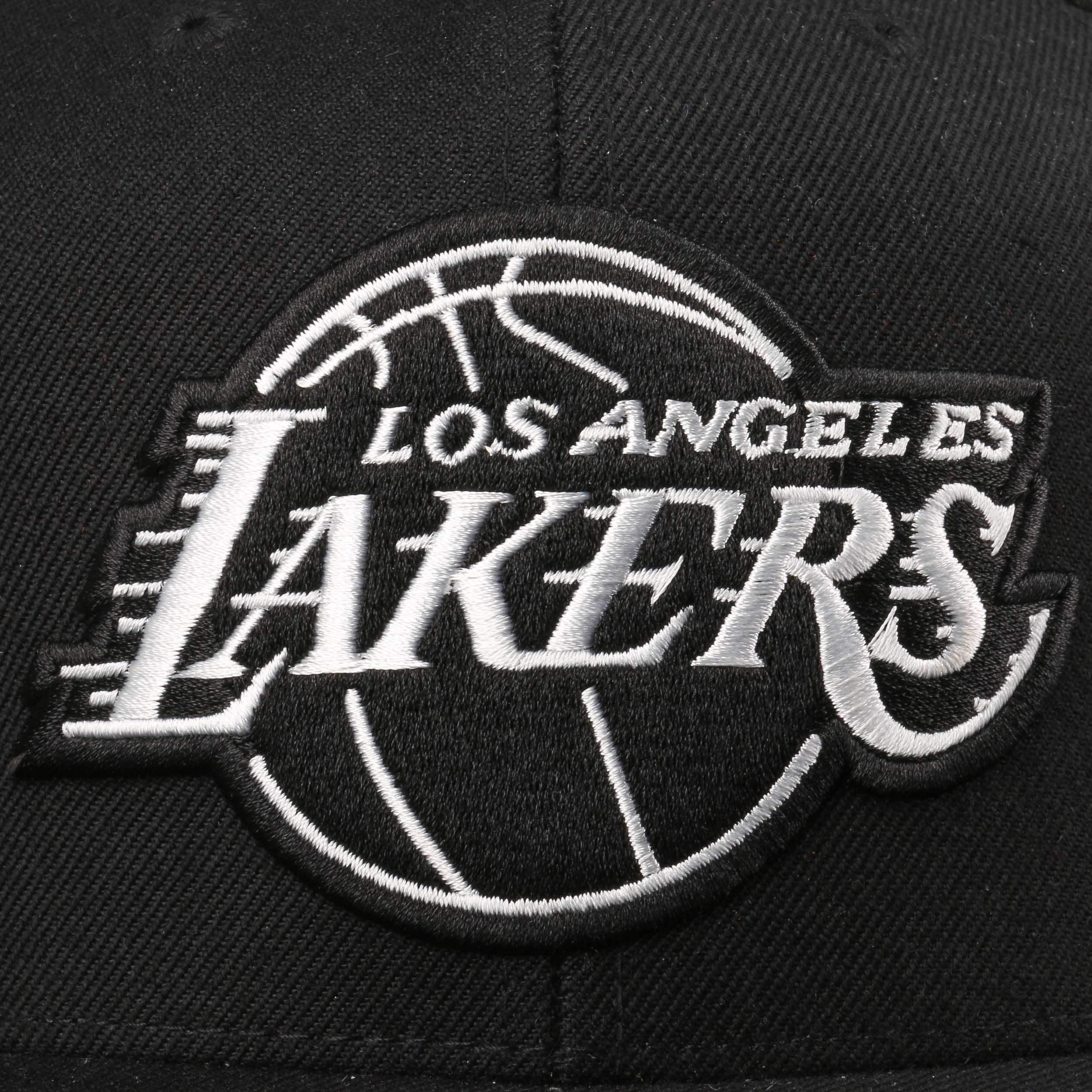 ... Gorra Wool Solid B W Lakers by Mitchell   Ness - negro-blanco 5 7b7102d17a3
