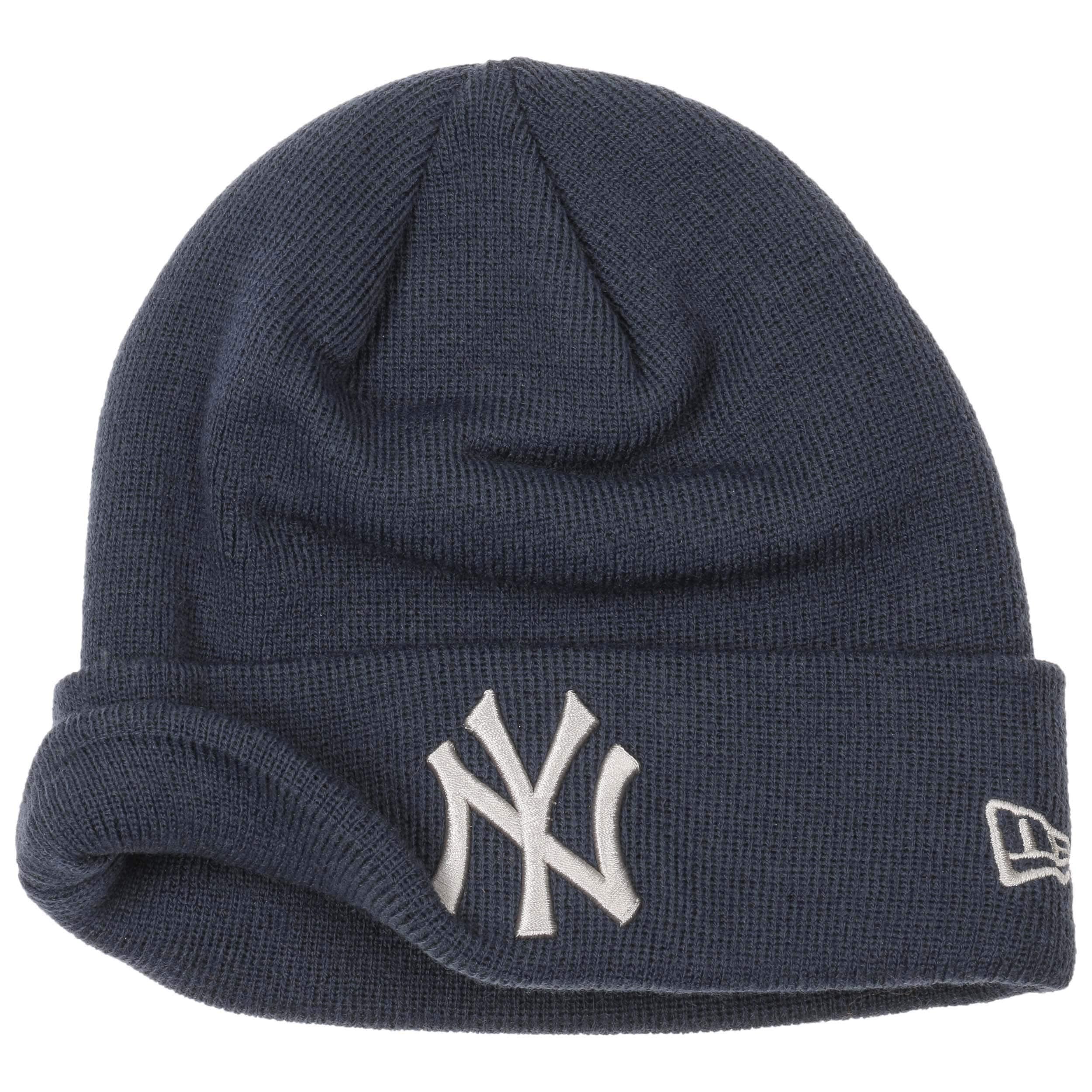 7e49334d25282 ... Gorro Beanie League Ess Cuff Yankees by New Era - azul oscuro 2 ...