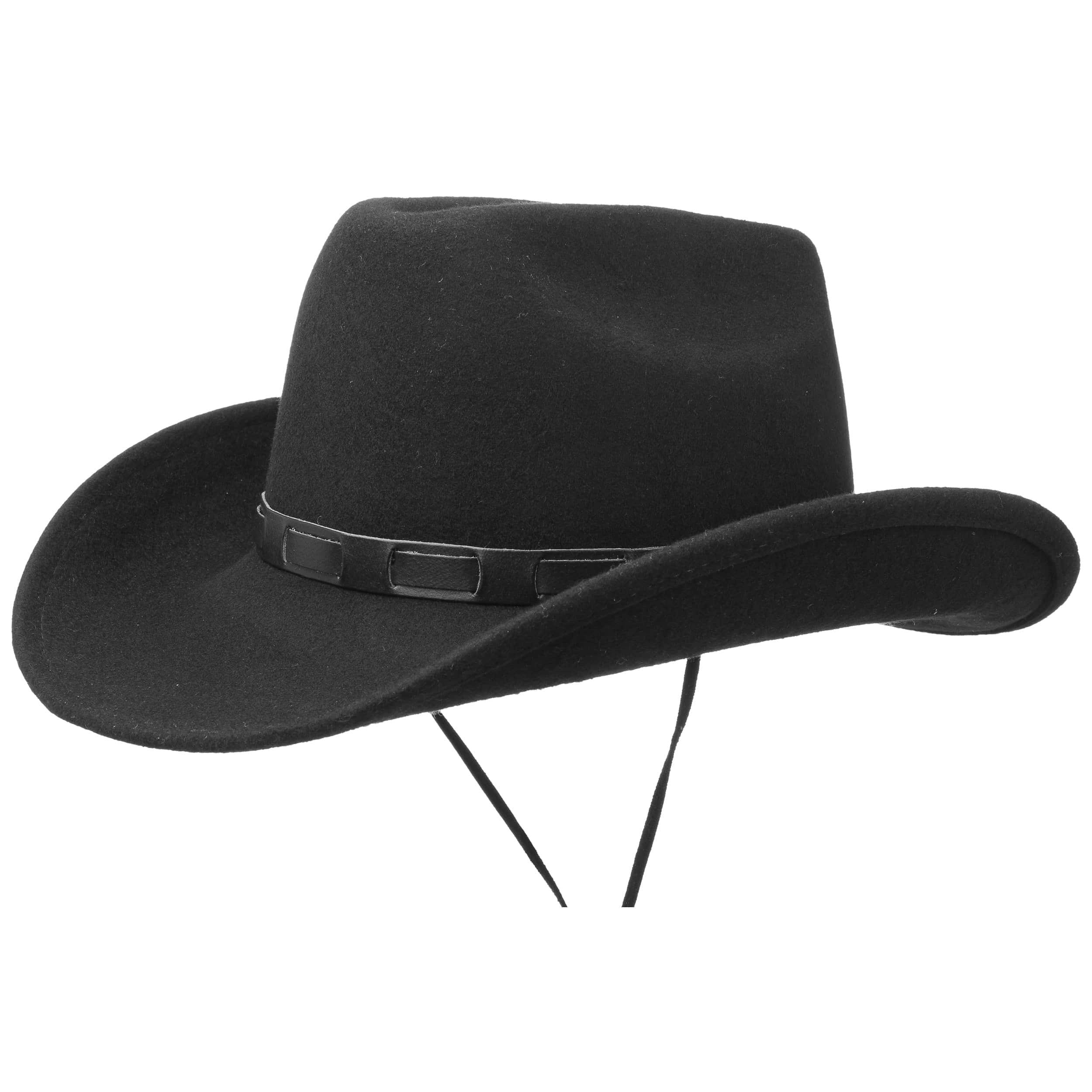 ... Sombrero Bill Cody con Cinta Barbilla by Lipodo - negro 4 ... 11370dc5d043