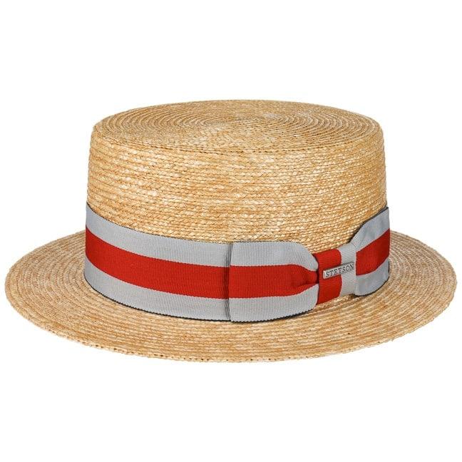 Sombrero Canotier Wheat Boater by Stetson - Sombreros - sombreroshop.es 05c2fd81026