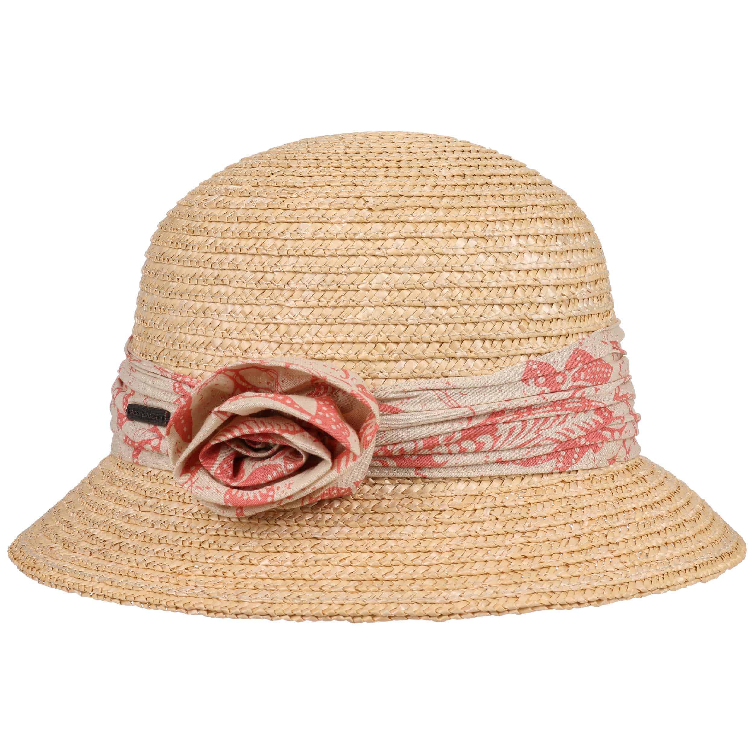 Sombrero Cloché Flower Trim by Seeberger - Sombreros - sombreroshop.es 1ac54cf380c