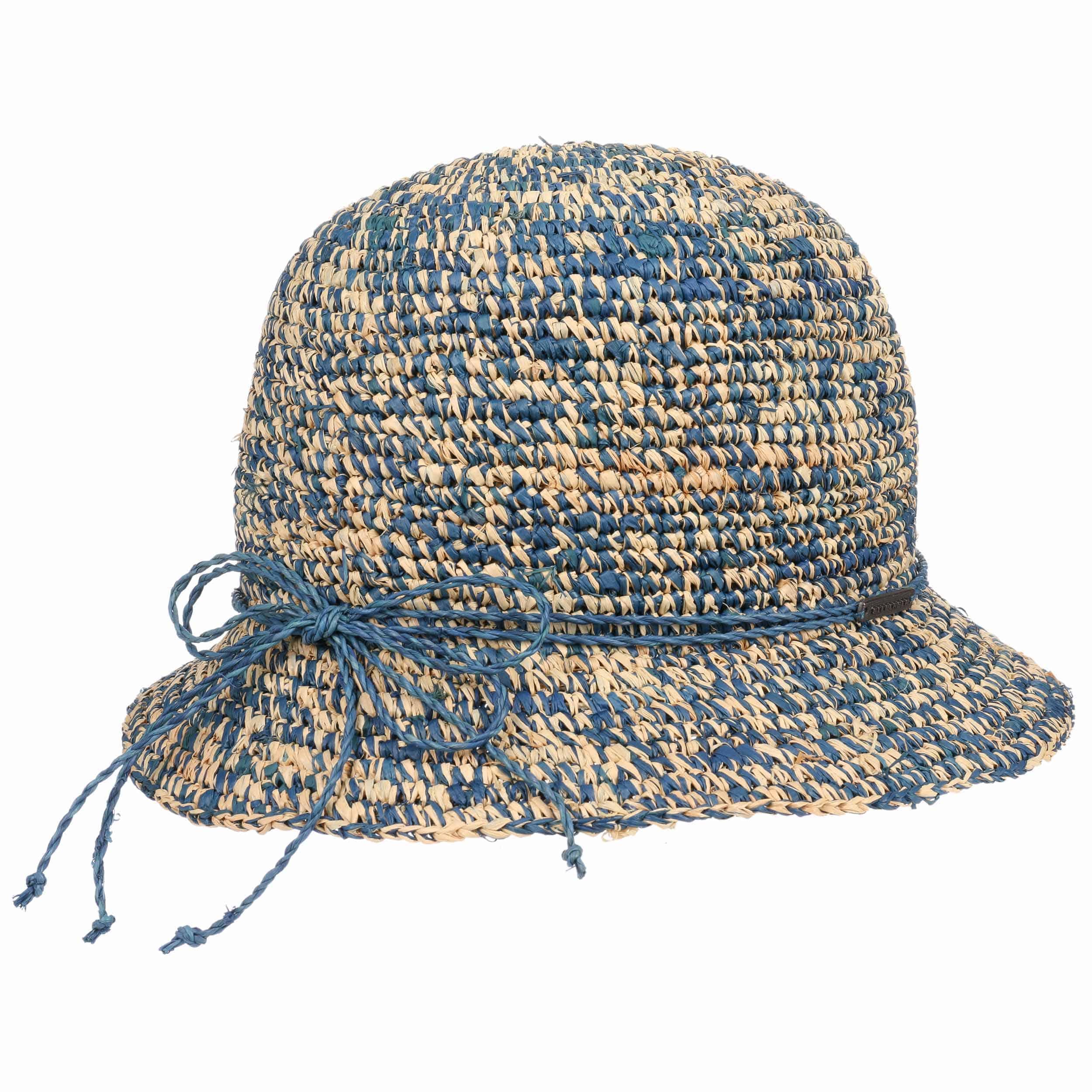 ... Sombrero Cloché Paja Twotone by Seeberger - natural-azul oscuro 3 ... f58a17bd97a8