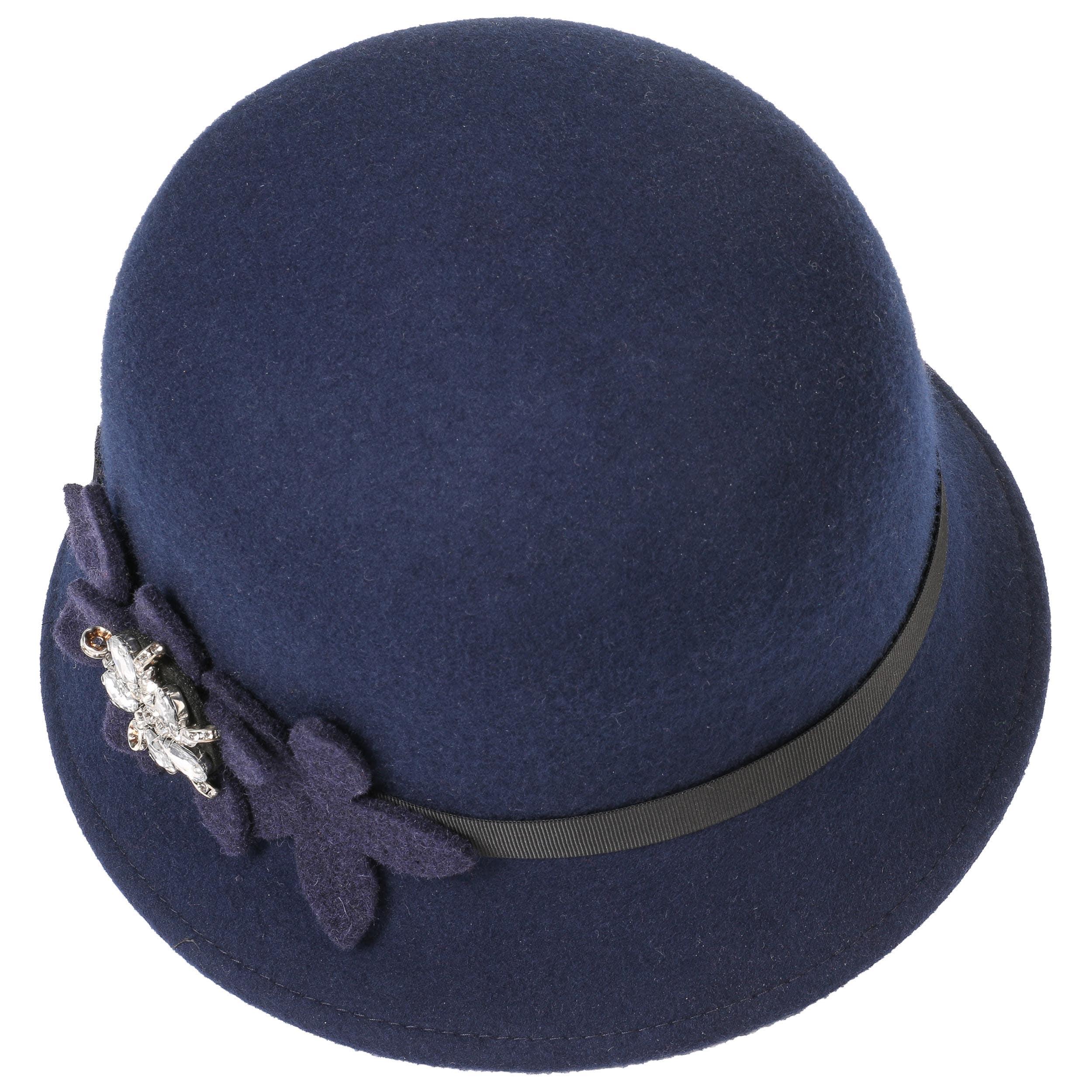 ... Sombrero Cloché con Flores y Estrás by Lipodo - azul 1 ... 0a83d087672