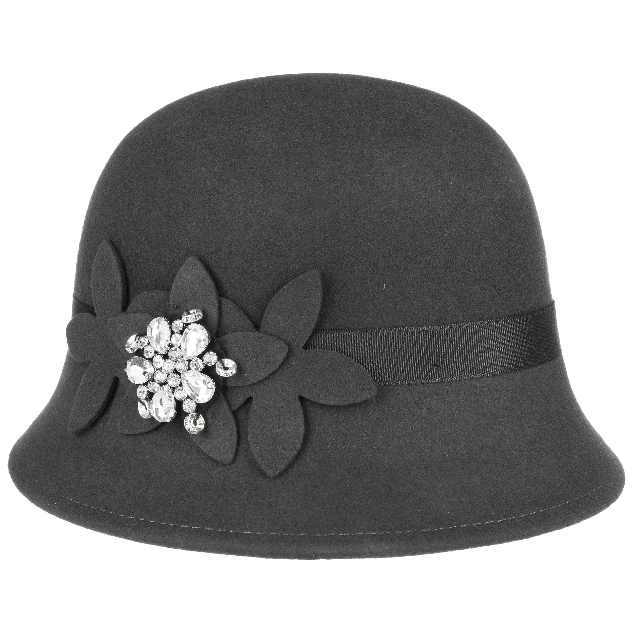 ... azul 4 · Sombrero Cloché con Flores y Estrás by Lipodo - gris oscuro 4 cb0d410df3b