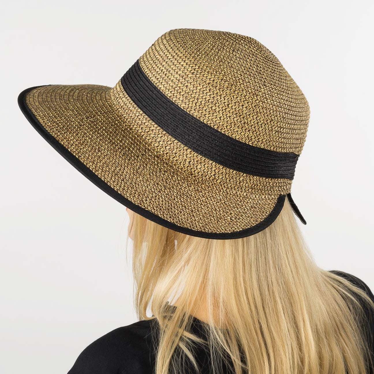 Sombrero Paja con Visera by Seeberger - Sombreros - sombreroshop.es 379cc190445