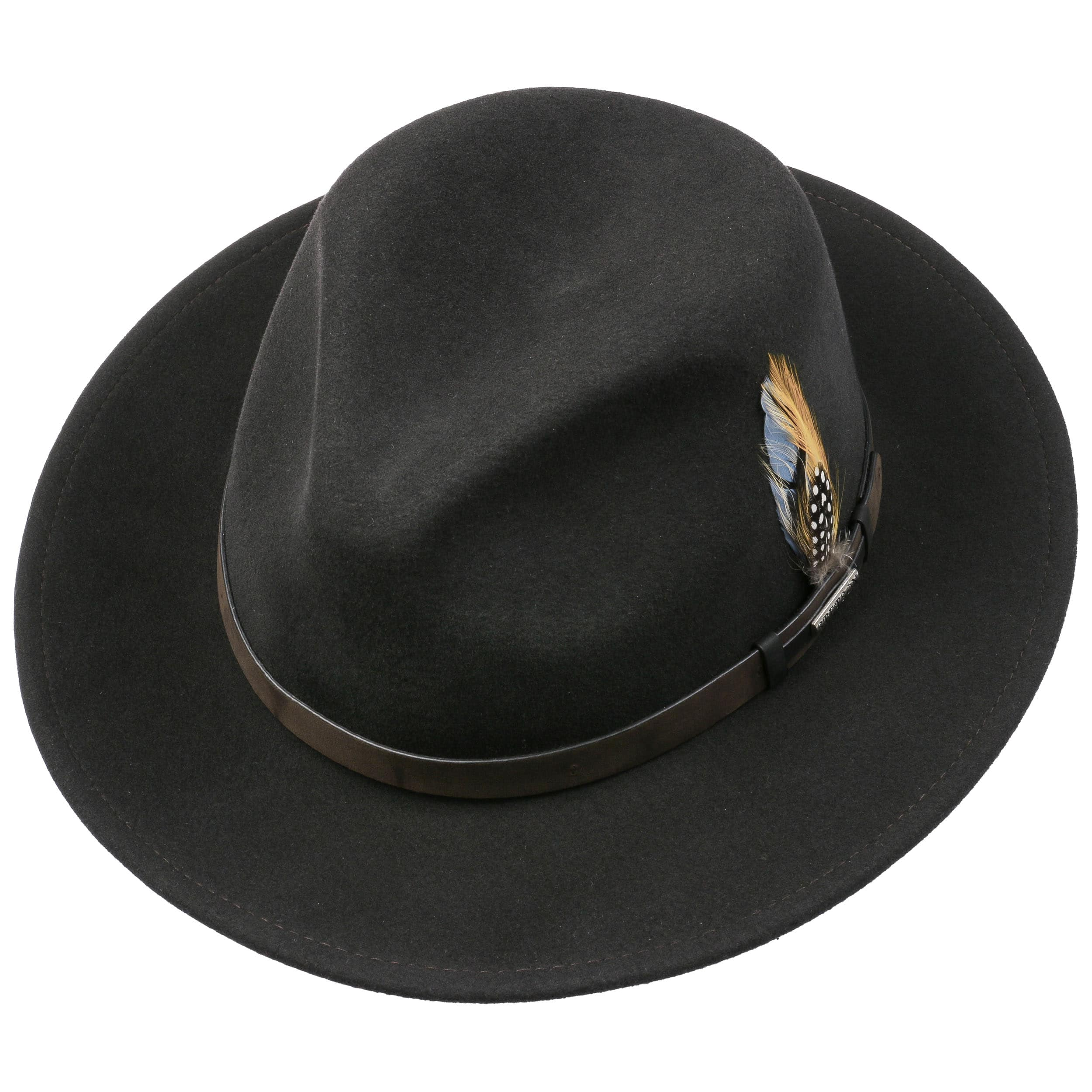 ... Sombrero VitaFelt Sardis by Stetson - marrón oscuro 1 ... 6ea4fffb65b7