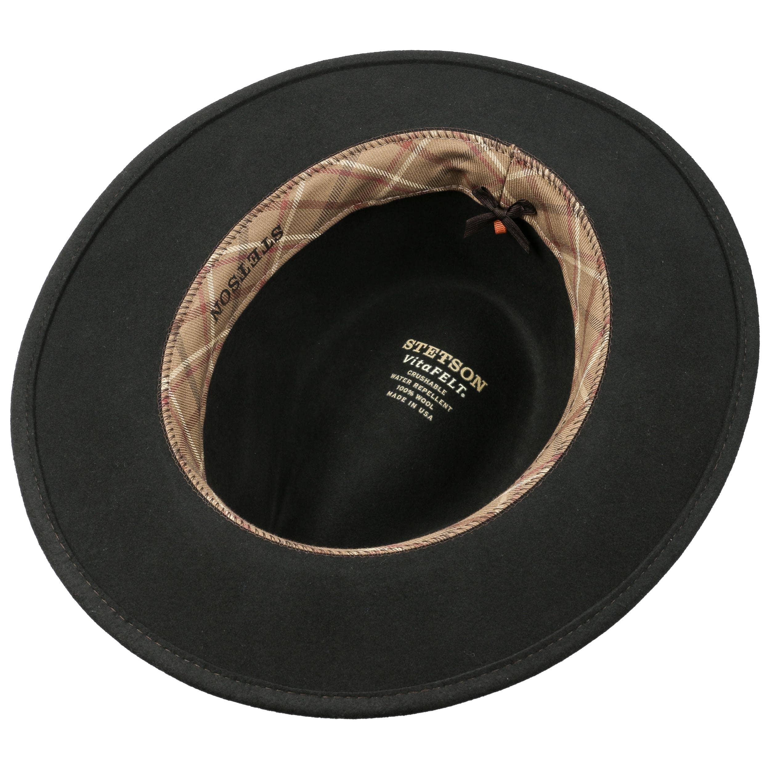 ... Sombrero VitaFelt Sardis by Stetson - marrón oscuro 2 ... 27e77859093f