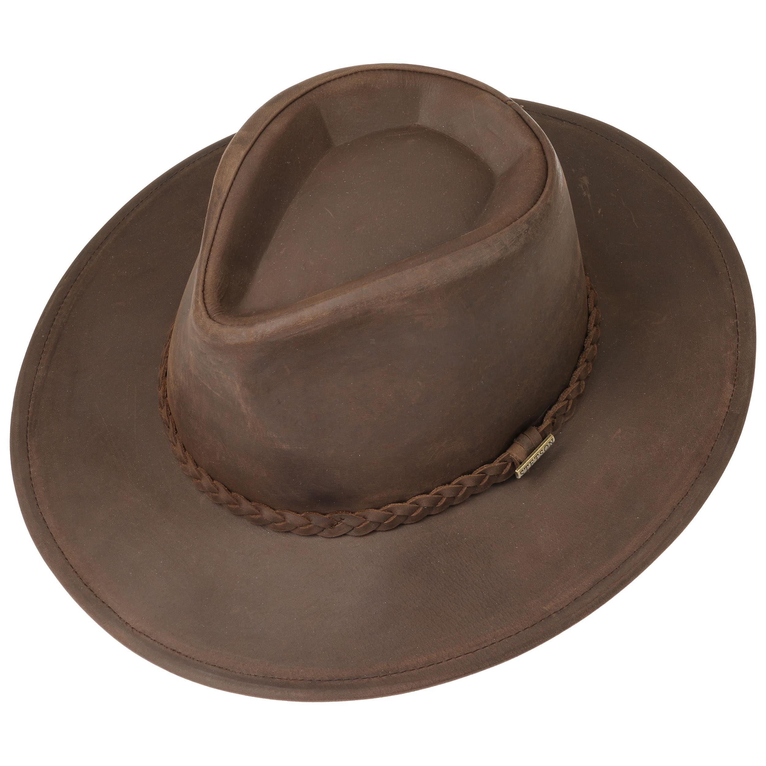 3e015c565791c Sombrero Western Buffalo Leather by Stetson - marrón oscuro 1 ...