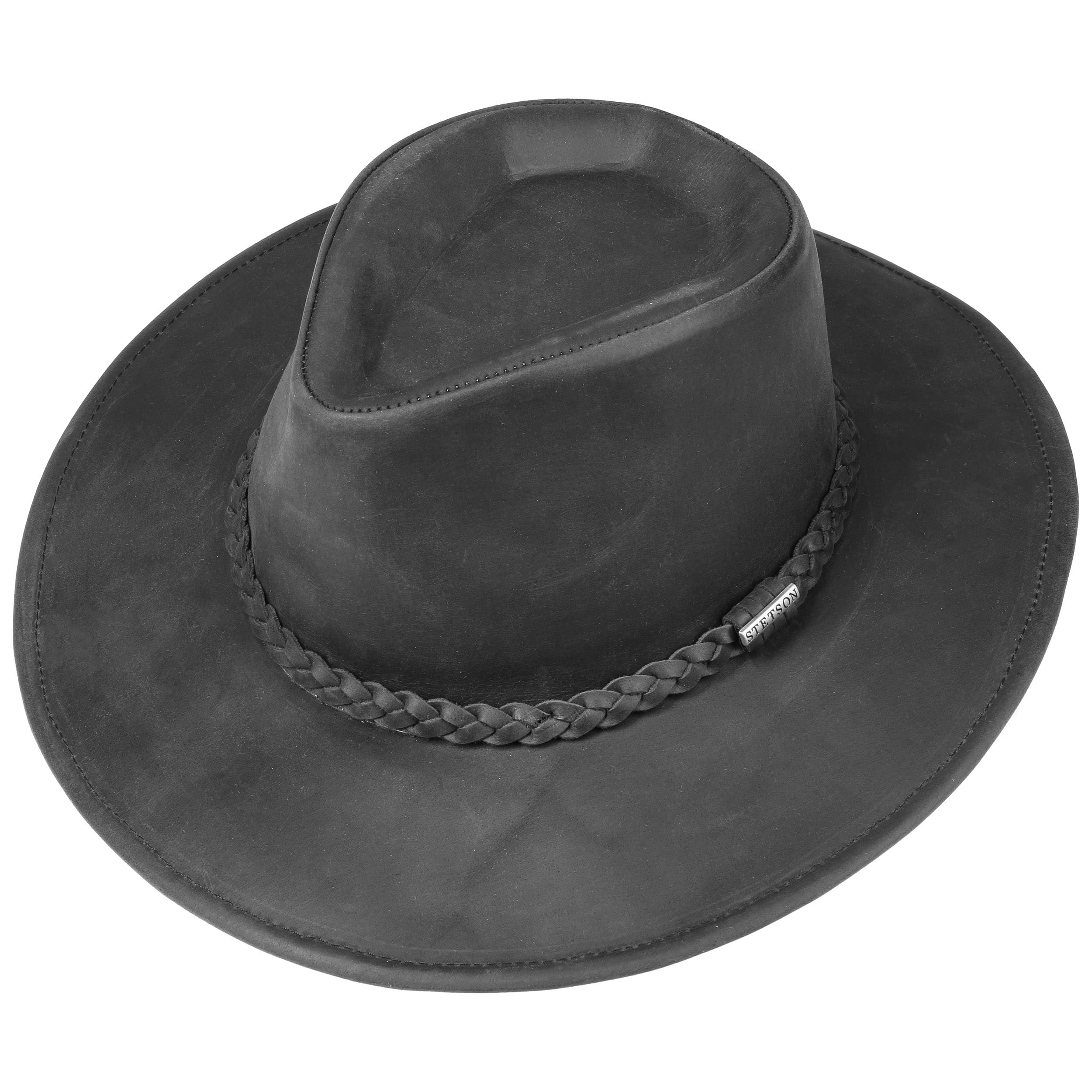 51ee9ffb548ae ... Sombrero Western Buffalo Leather by Stetson - marrón oscuro 2 ...
