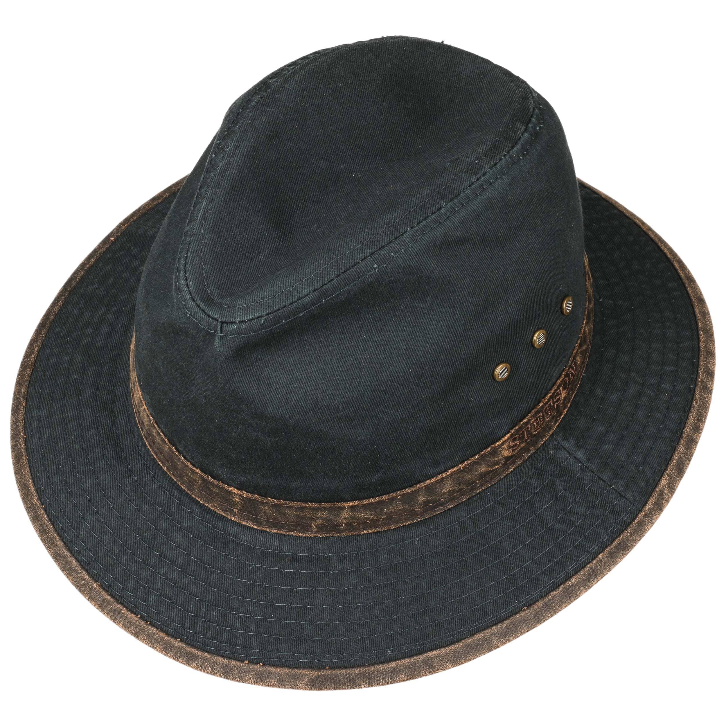 Sombrero de Algodón Ava by Stetson - negro 1 ... d0ef1437441