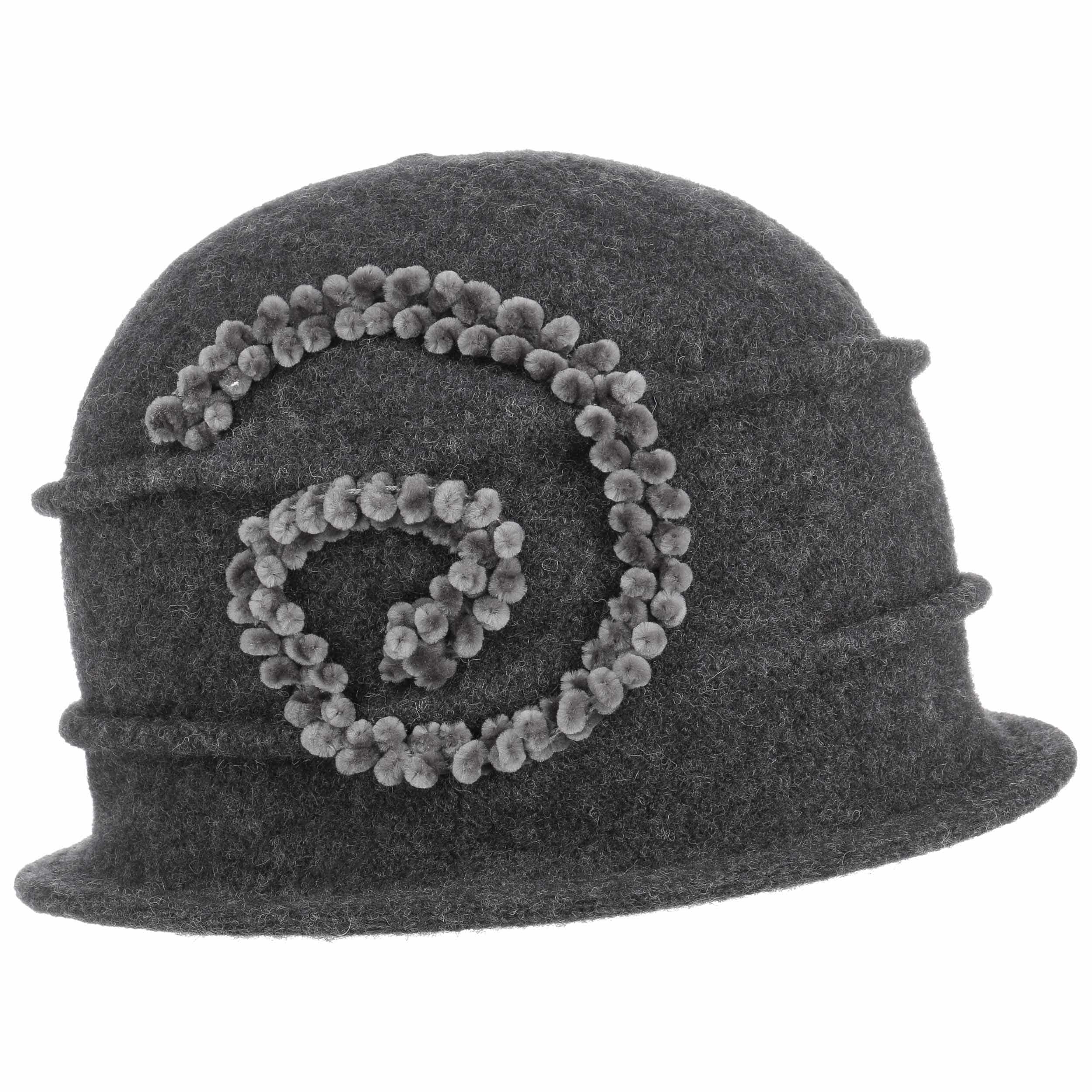 ... Sombrero de Lana Hervida Chenille by Seeberger - antracita 5 ... 6ed566ff60a