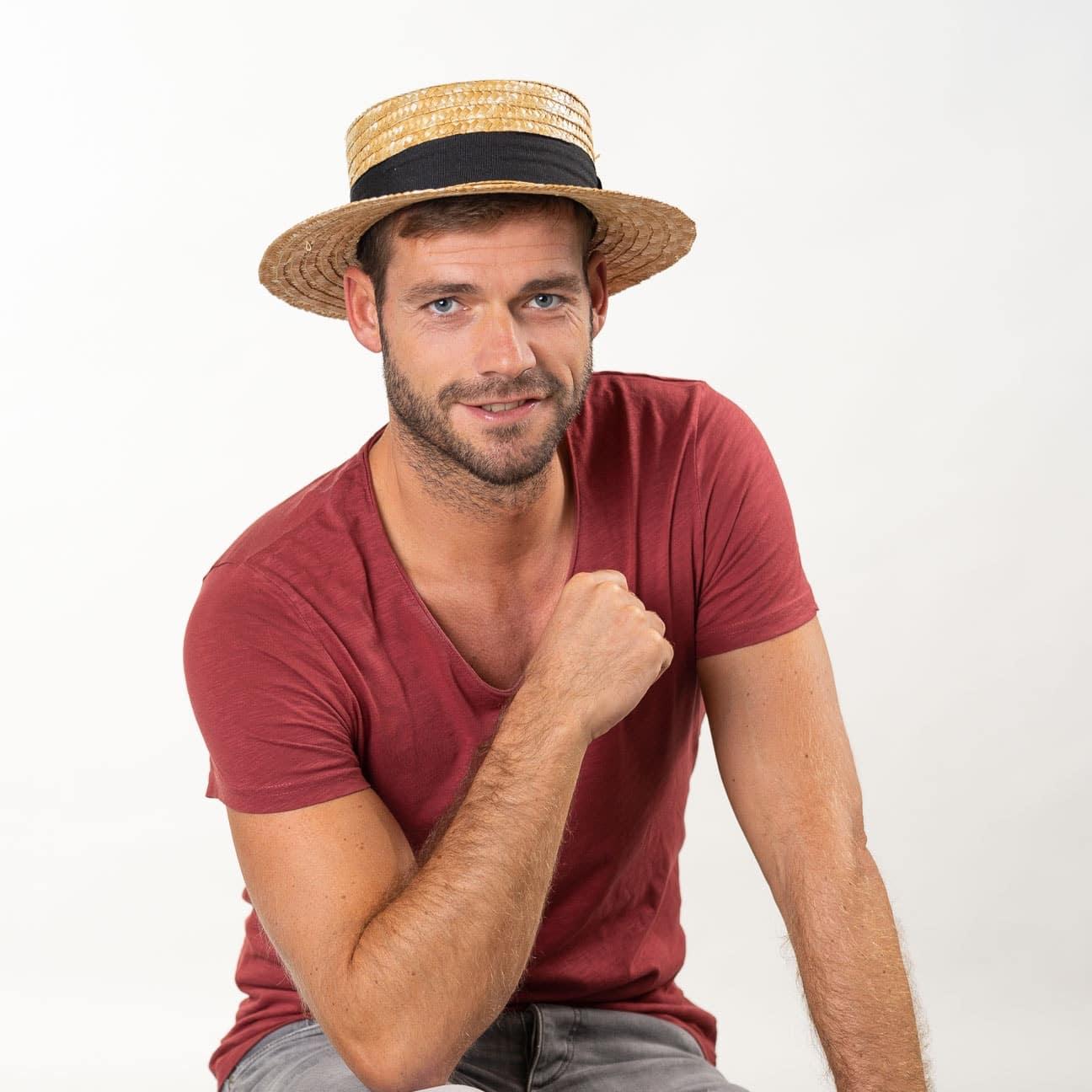 1e200944f34b7 Sombrero de Paja Canotier by Lipodo - Sombreros - sombreroshop.es