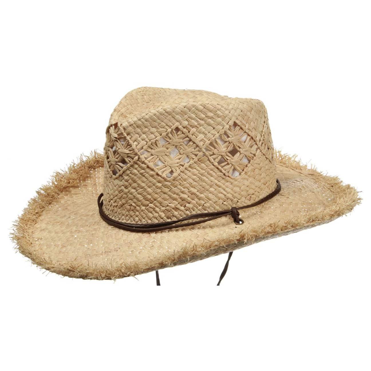 b6740409a1aea Sombrero de Paja Cowboy Mujer by Seeberger - Sombreros - sombreroshop.es