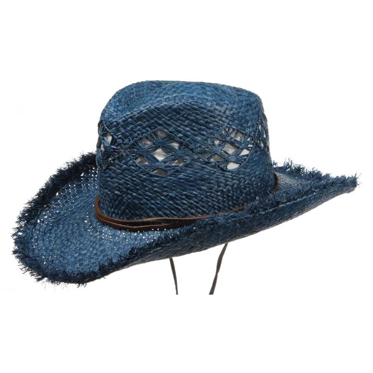 Sombrero de Paja Cowboy Mujer by Seeberger - Sombreros - sombreroshop.es 1794182e022a
