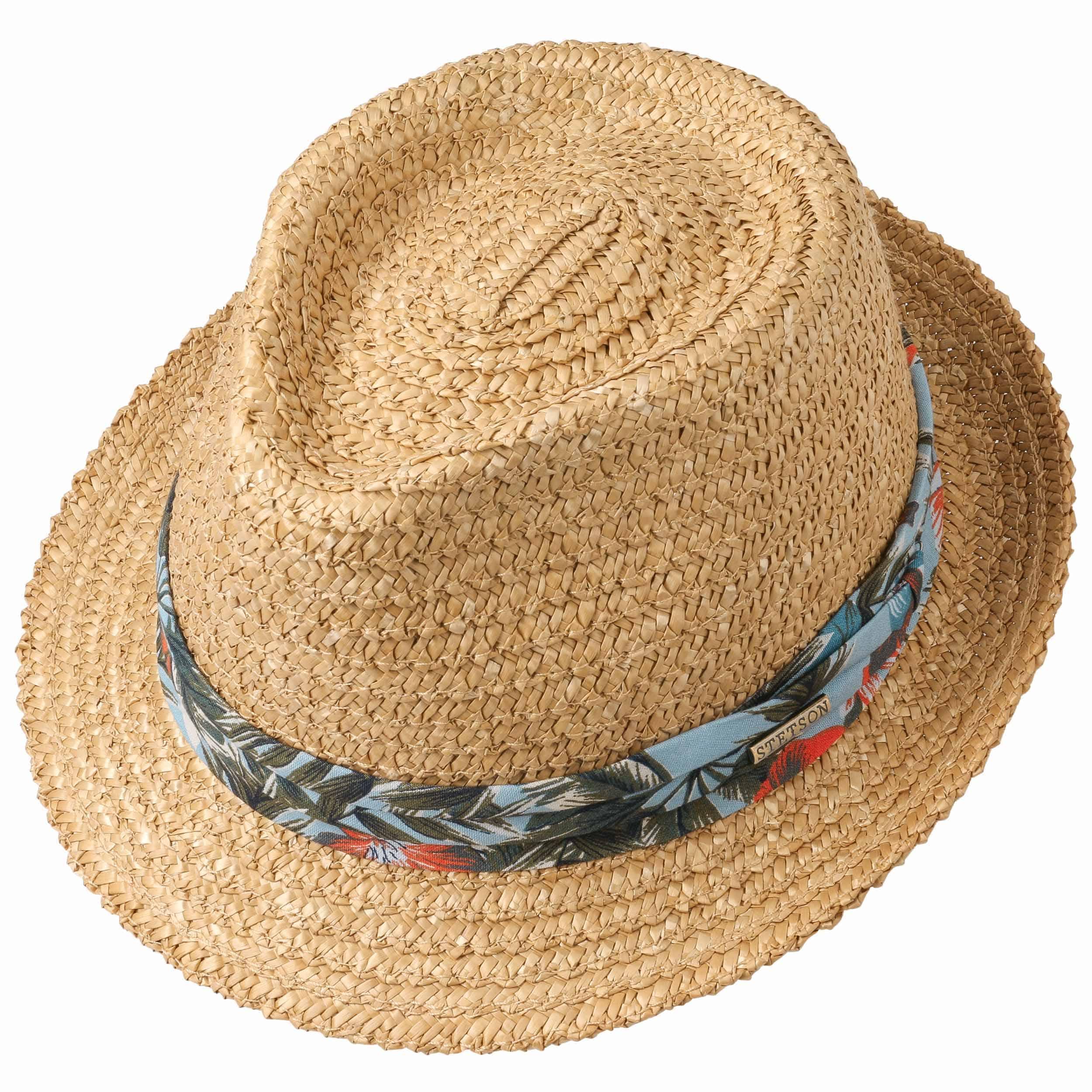 Sombrero de Paja Flower Trilby by Stetson - Sombreros - sombreroshop.es f478f7cb45d