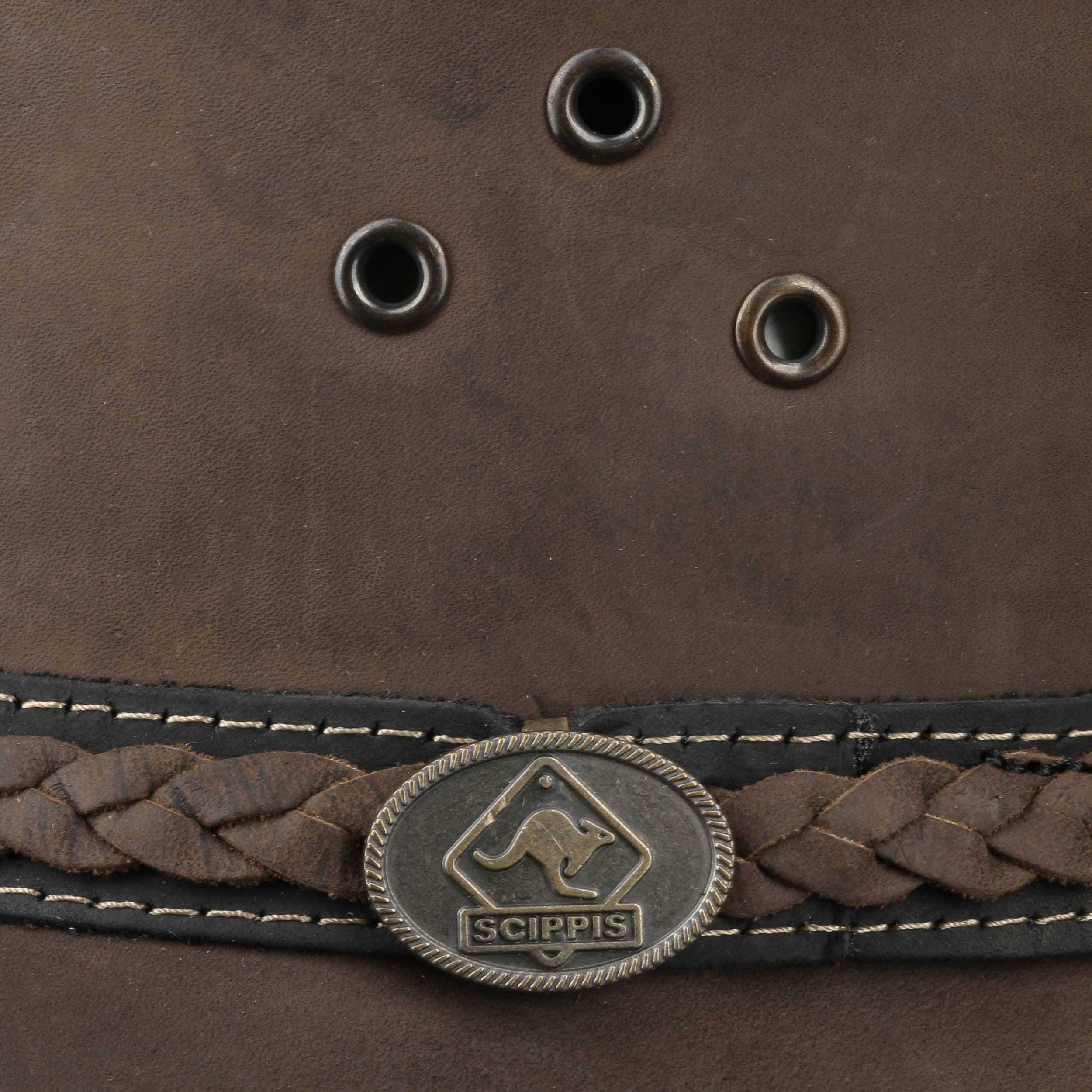 ... Sombrero de Piel Albury Stonewashed by Scippis - marrón 3 ... 69f679344f4